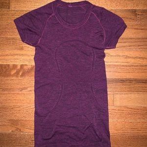 Purple short sleeve lululemon top